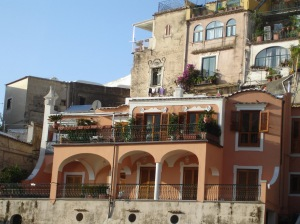 Building in Positano Italy