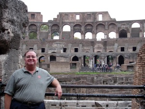 Dad in the Coliseum