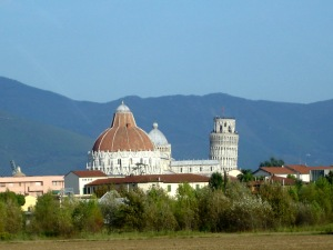 Duomo and Pisa Tower from afar