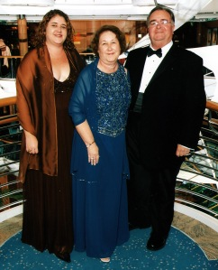 Formal Captain's Dinner aboard Italian Cruise