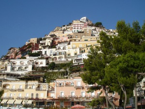 Hillside looking up Positano Italy