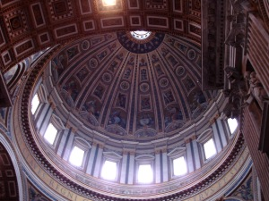 Inside Dome of St. Peter's