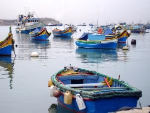 Marsaxlokk Boats in Malta