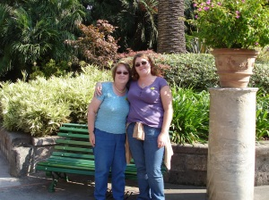 Me and Mom in the garden of Grand Hotel Vittoria in Sorrento