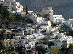Positano from above Amalfi Coast 1