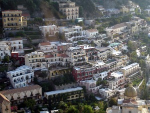 Positano from above Amalfi Coast 2